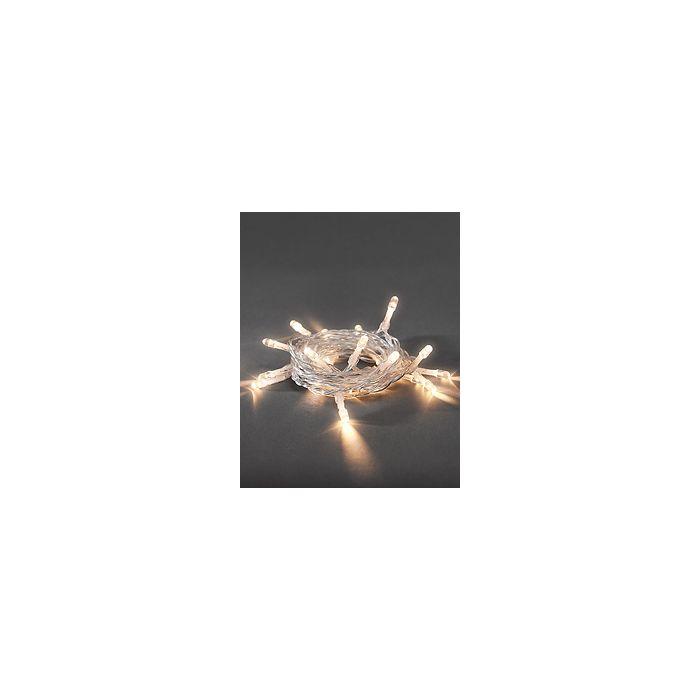 Konstsmide lichtsnoer 10 warm witte LEDs op batterij 1407-103