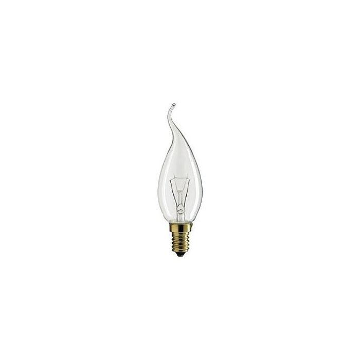 Kaarslamp Gloeilamp E14 230V 15W Tip helder