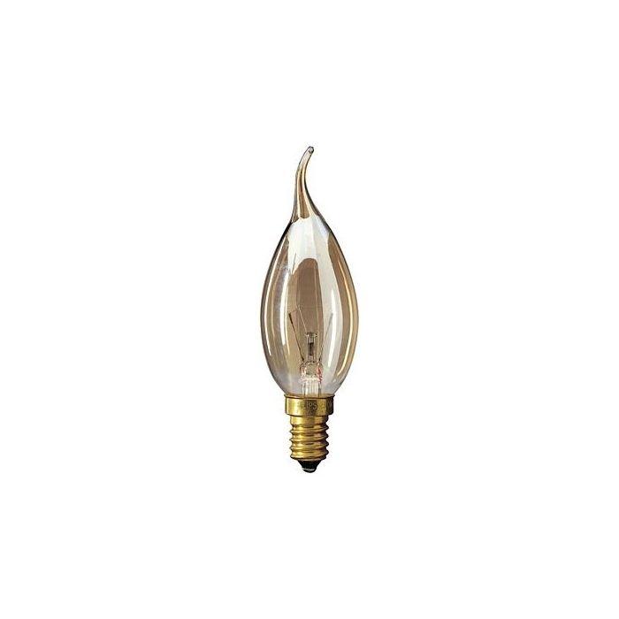 Kaarslamp Gloeilamp E14 230V 25W Tip amber