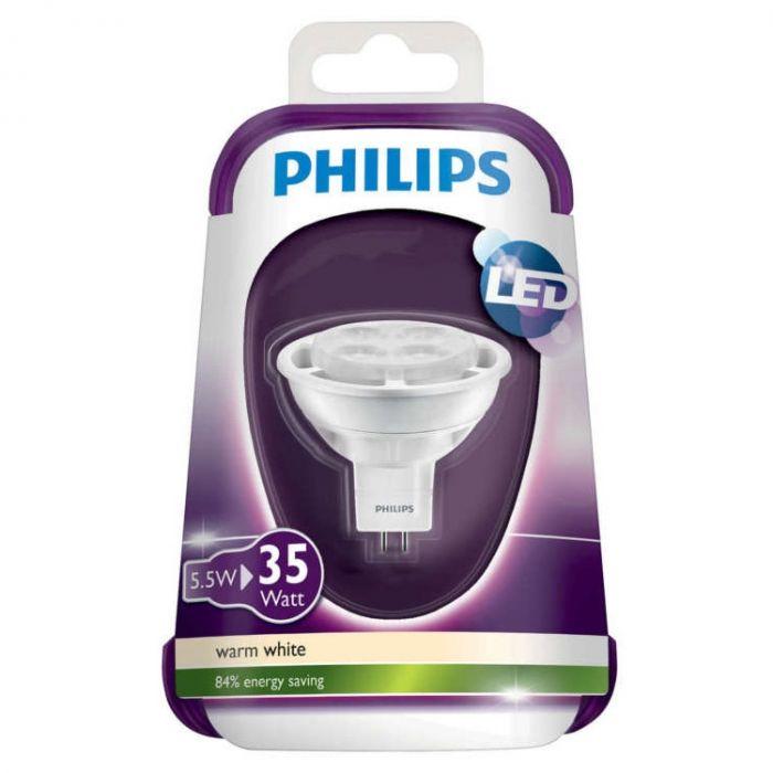Philips LED spot 5.5W GU5.3 36D warmwit