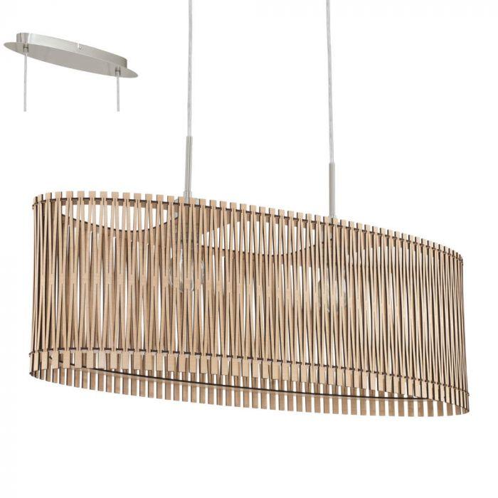 Eglo Sendero 96194 hanglamp hout