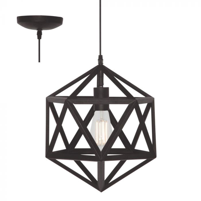 Freelight Cubo H5670Z hanglamp zwart