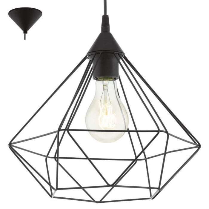 Eglo Tarbes 94188 hanglamp zwart