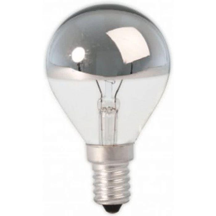 Kopspiegel Kogellamp zilver E14 25w