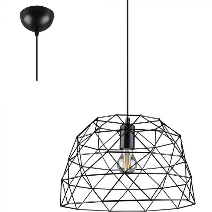 Hanglamp Haval zwart 38cm