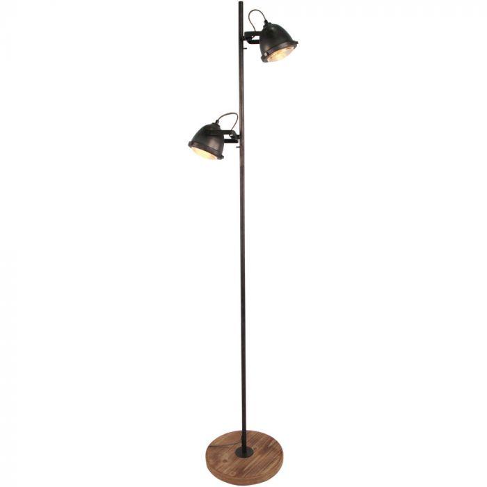 Freelight Woody S5152Z vloerlamp zwart