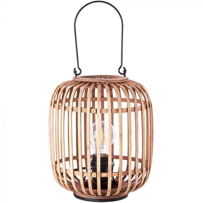 Tafellamp Woodrow bamboe 27cm