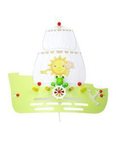 Wandlamp Zeilschip groen