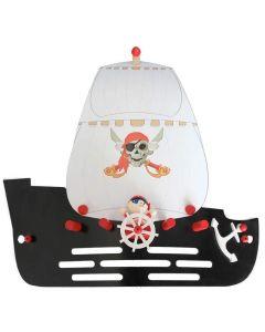 Wandlamp Piratenschip Jack zwart