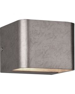 Wandlamp Melvin zilver 11cm