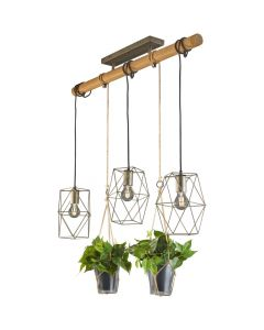 Hanglamp Plant 301000367 staal 100cm