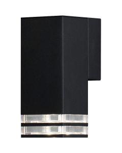 Wandlamp Antares matzwart 19cm