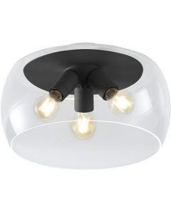 Plafondlamp Valente 600600342 zwart 40cm