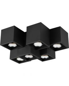 Plafondlamp Fernando 604900632 zwart 37cm