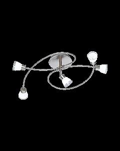 Trio 618410507 Plafondlamp nikkel 67cm