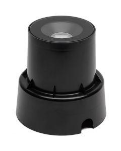 Grondspot inbouw zwart 92mm