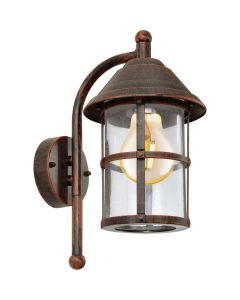 Eglo San Telmo 90184 wandlamp bruin
