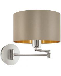 Eglo Maserlo 95055 wandlamp taupe