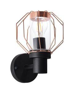 Brilliant Fannia 96359/76 wandlamp koper