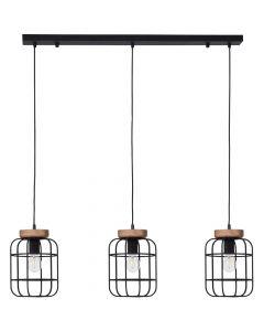 Hanglamp Gwen zwart 100cm