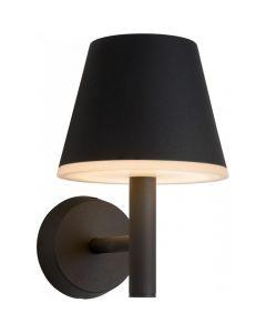 Wandlamp Josy zwart 24cm
