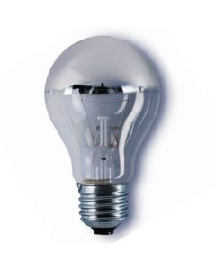 Kopspiegellamp zilver E27 100w