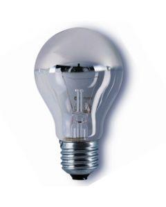 Kopspiegellamp zilver E27 60w