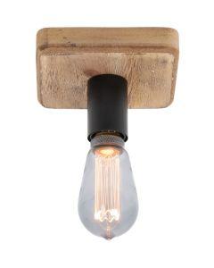 Plafondlamp Lenero PL2710Z hout 15cm