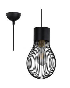Hanglamp Dave zwart 19cm