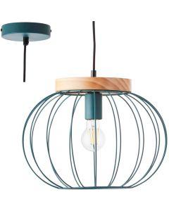 Hanglamp Sorana turquoise 36cm