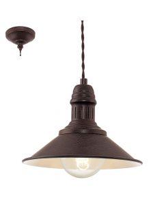 Eglo Stockbury 49455 hanglamp bruin