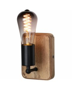Wandlamp Lenero W2701Z hout 15cm
