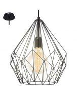 Eglo Carlton 49257 hanglamp zwart