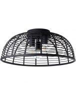 Plafondlamp Crosstown zwart 56cm