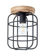 Plafondlamp Gwen zwart 20cm